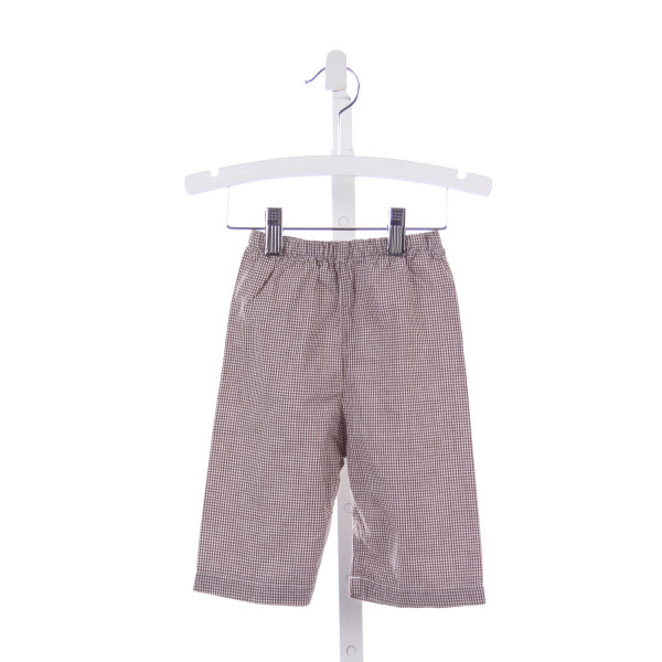 THE SMOCKING BUG BROWN GINGHAM PANTS