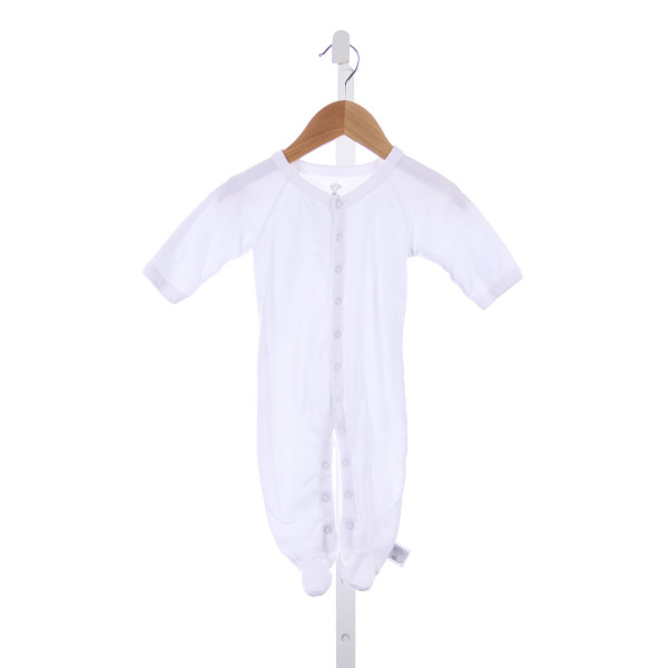 LITTLE GIRAFFE WHITE KNIT ROMPER *SIZE 3-6 MONTHS