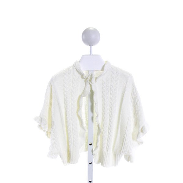 RUFFLE BUTTS  IVORY    CARDIGAN WITH RUFFLE