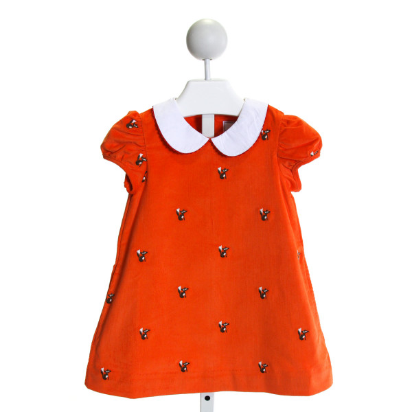 CPC  ORANGE CORDUROY  EMBROIDERED DRESS WITH RIC RAC