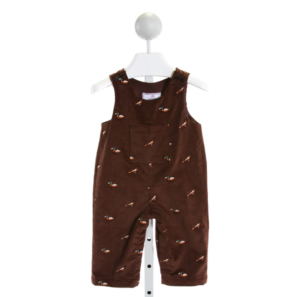 CPC  BROWN CORDUROY  EMBROIDERED LONGALL/ROMPER