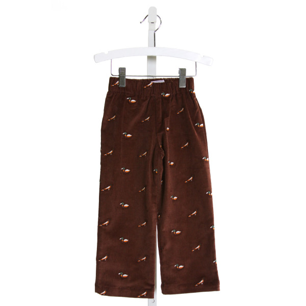 CPC  BROWN CORDUROY  EMBROIDERED PANTS