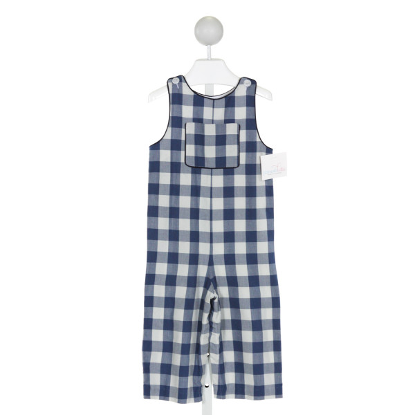 JAMES & LOTTIE  BLUE  PLAID  LONGALL/ROMPER