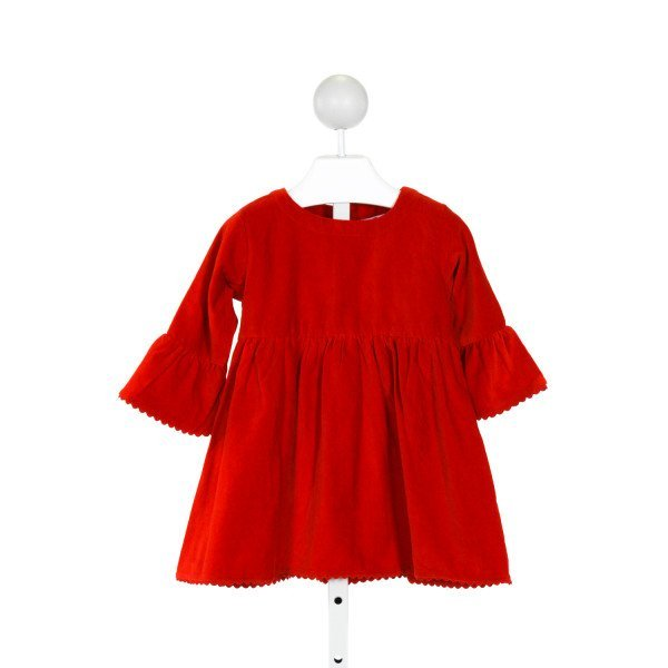 RUFFLE BUTTS  RED VELVET   DRESS