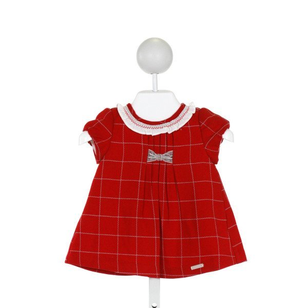 MAYORAL  RED    DRESS WITH RUFFLE