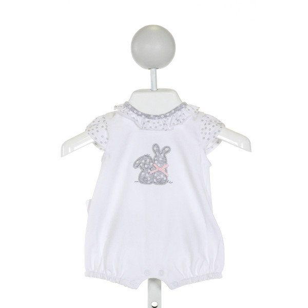 MAYORAL  WHITE COTTON  APPLIQUED LAYETTE