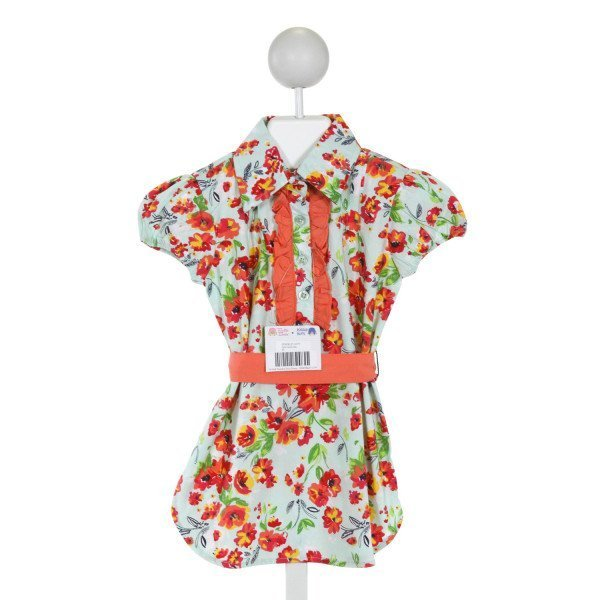 RUFFLE BUTTS  MULTI-COLOR  FLORAL  DRESS WITH RUFFLE