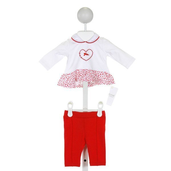 MAYORAL  RED   EMBROIDERED LAYETTE