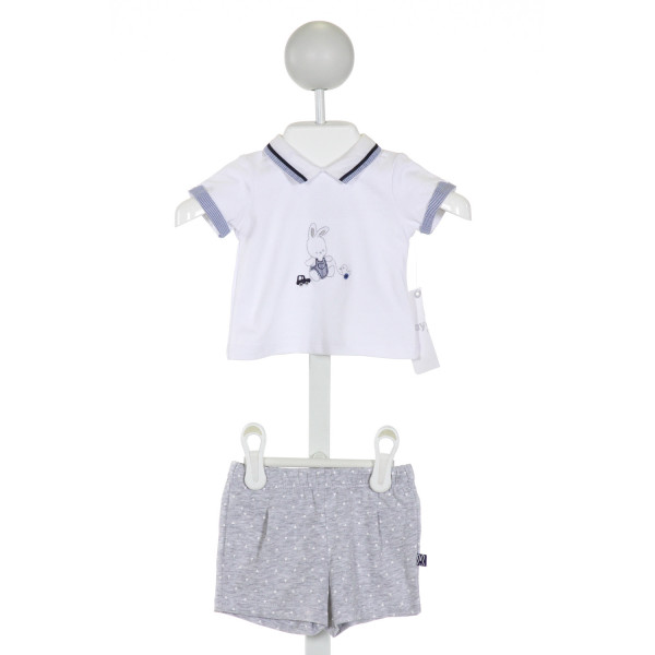 MAYORAL  WHITE   EMBROIDERED 2-PIECE OUTFIT