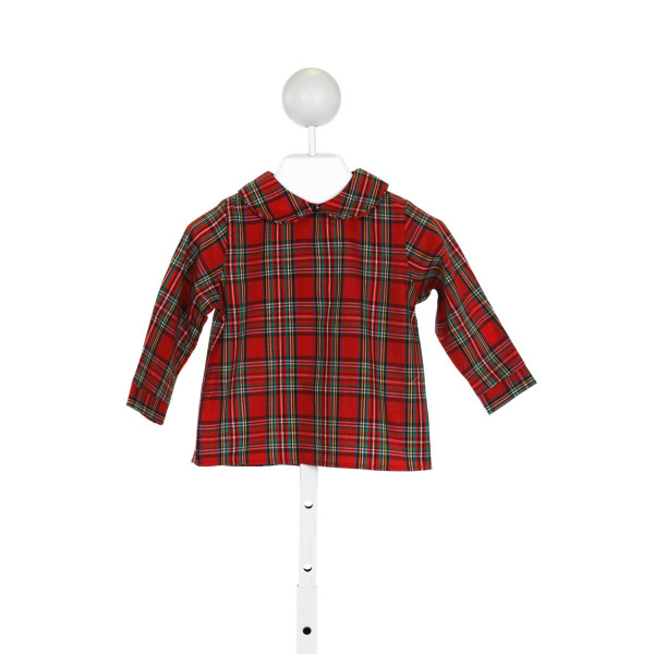 BAILEY BOYS  RED  PLAID  CLOTH LS SHIRT
