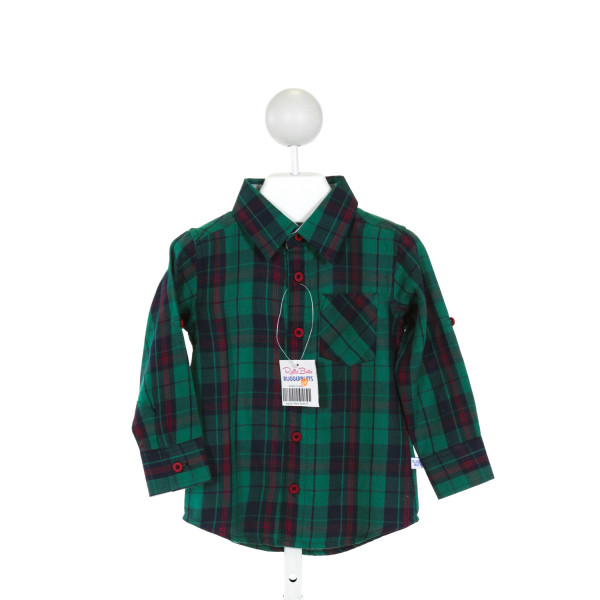 RUGGED BUTTS  GREEN  PLAID  CLOTH LS SHIRT