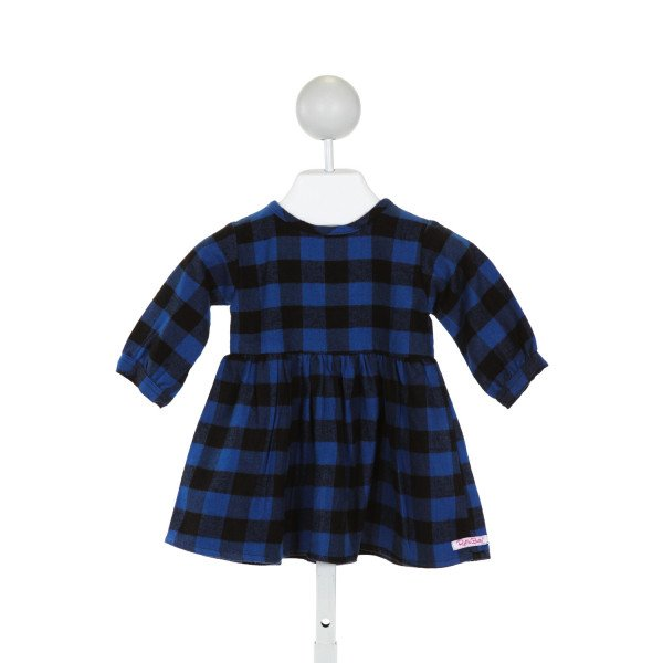 RUFFLE BUTTS  BLUE  PLAID  DRESS