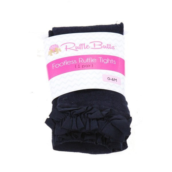 RUFFLE BUTTS  NAVY COTTON   ACCESSORIES - SOCKS/TIGHTS WITH RUFFLE