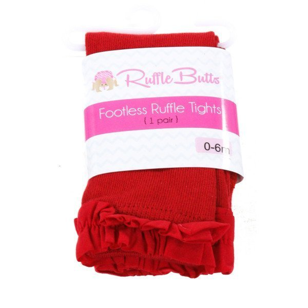 RUFFLE BUTTS  RED COTTON   ACCESSORIES - SOCKS/TIGHTS WITH RUFFLE
