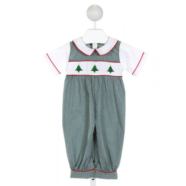 SWEET DREAMS  GREEN   EMBROIDERED LONGALL/ROMPER
