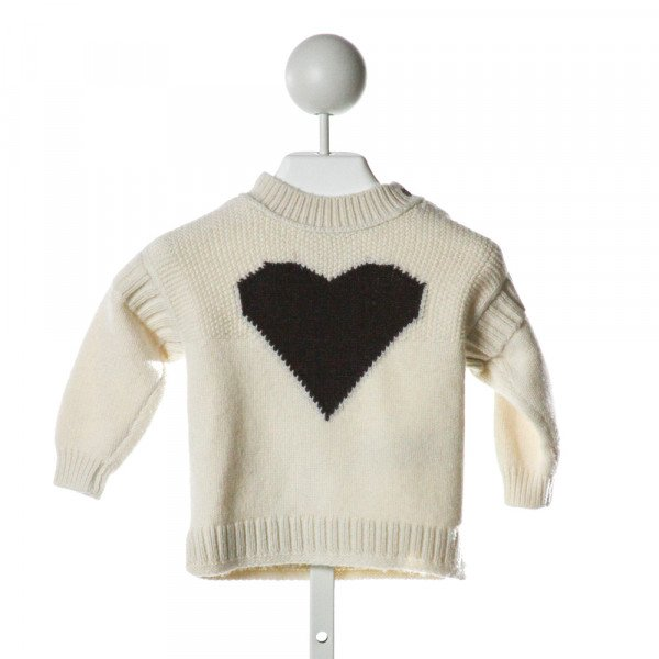BURBERRY  IVORY   PRINTED DESIGN SWEATER
