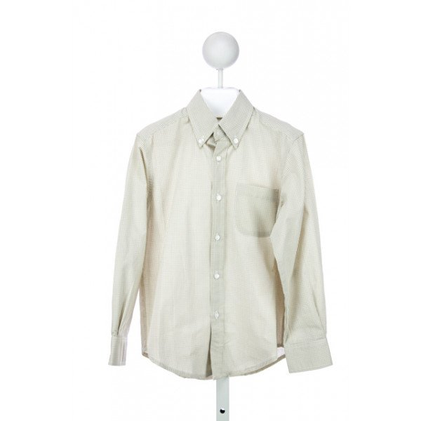 KATE & LIBBY BOY BUTTON DOWN SHIRT IN KHAKI GINGHAM