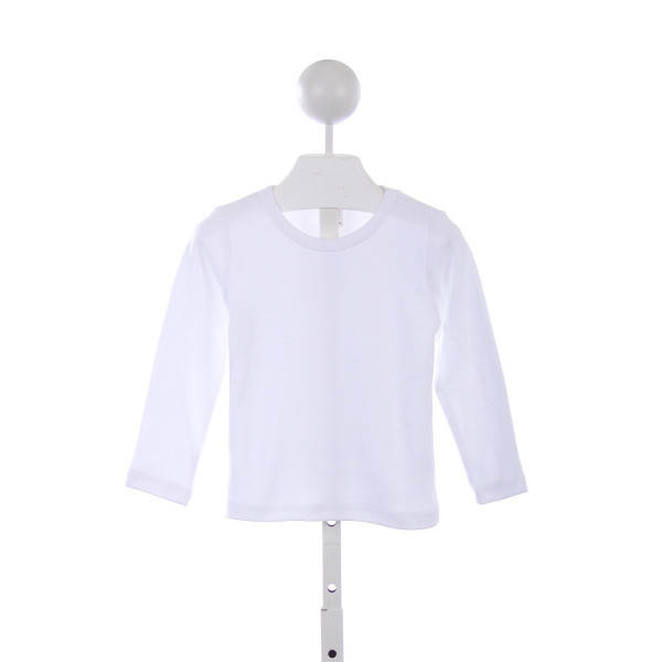 MONAG WHITE LONG SLEEVE KNIT TOP