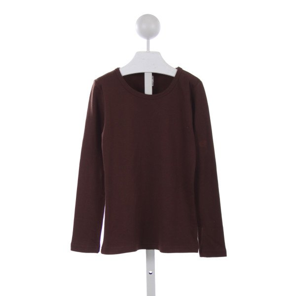 MONAG BROWN LONG SLEEVE KNOT TOP
