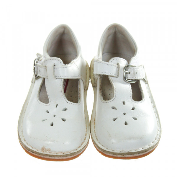 L'AMOUR OFF-WHITE LEATHER SHOES *SIZE TODDLER 7, VGU -