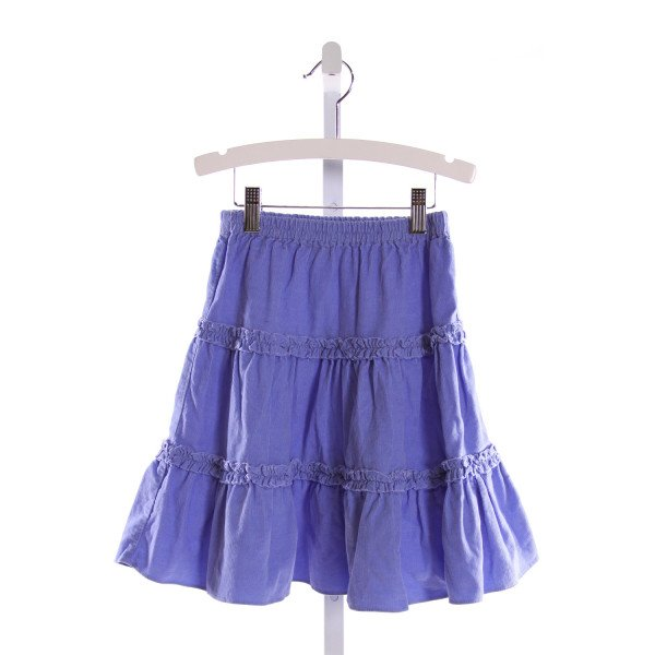 ORIENT EXPRESSED  LT BLUE CORDUROY   SKIRT WITH RUFFLE
