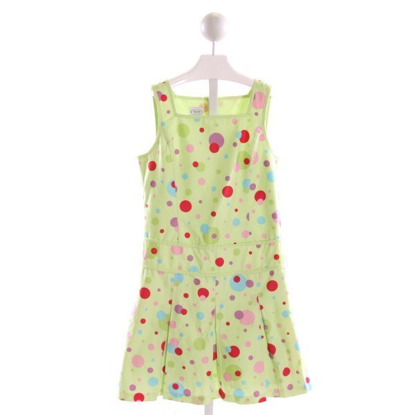 TALBOTS  MULTI-COLOR PIQUE POLKA DOT  DRESS WITH RUFFLE