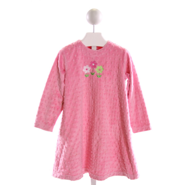 CHEZ AMI  PINK MINKY DOT  EMBROIDERED DRESS