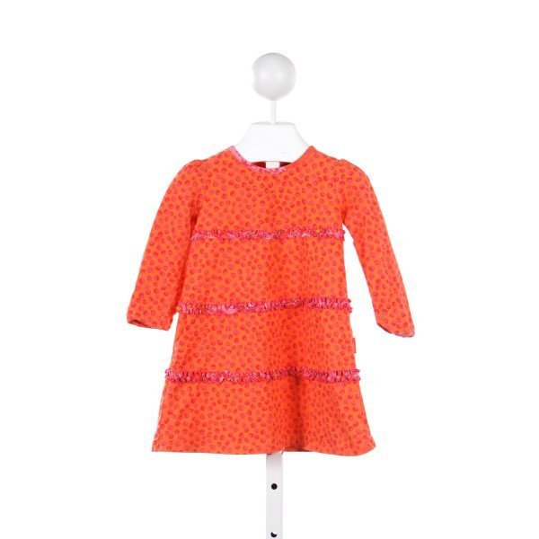 RABBIT MOON ORANGE AND HOT PINK KNIT DRESS *SIZE 18-24 MONTHS