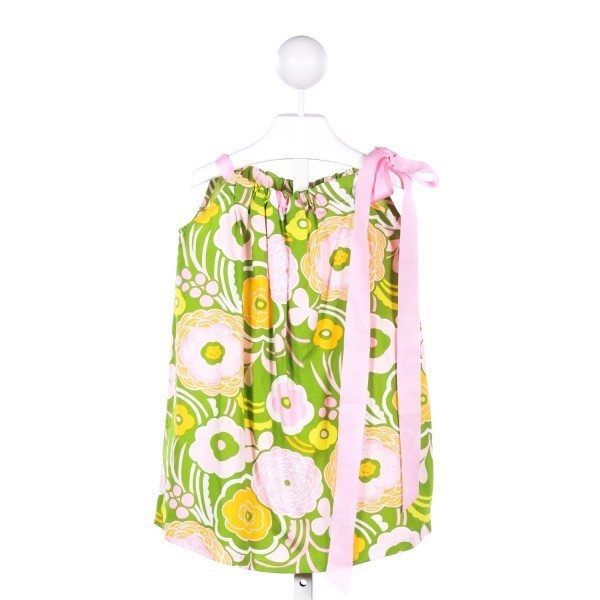 NAIN & JOE PINK AND GREEN FLORAL DRESS