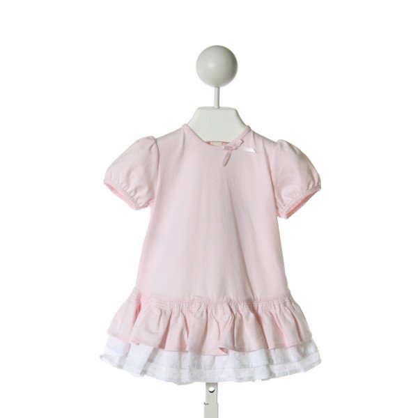 EMILE ET ROSE  LT PINK KNIT   DRESS WITH RUFFLE