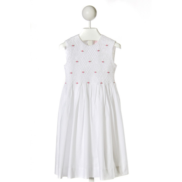 SOPHIE DESS  WHITE   SMOCKED DRESS