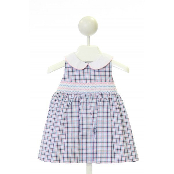 HARTSTRINGS  MULTI-COLOR  PLAID SMOCKED DRESS