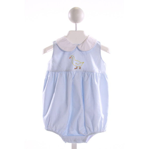 DONDOLO  LT BLUE COTTON  EMBROIDERED BUBBLE