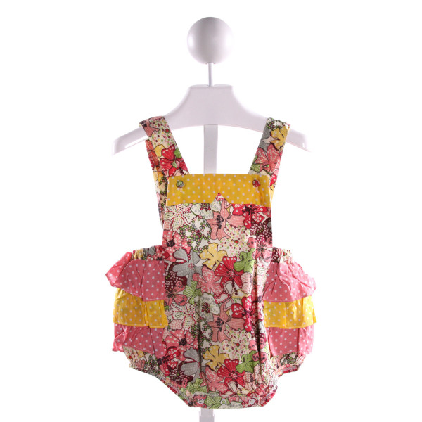 TUTU & LULU  MULTI-COLOR  FLORAL PRINTED DESIGN BUBBLE WITH RUFFLE