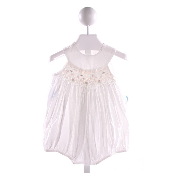 REMEMBER NGUYEN  WHITE COTTON  SMOCKED BUBBLE