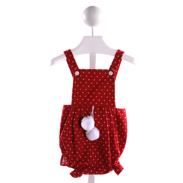 BELLA BLISS  RED WOOL POLKA DOT  BUBBLE WITH RUFFLE