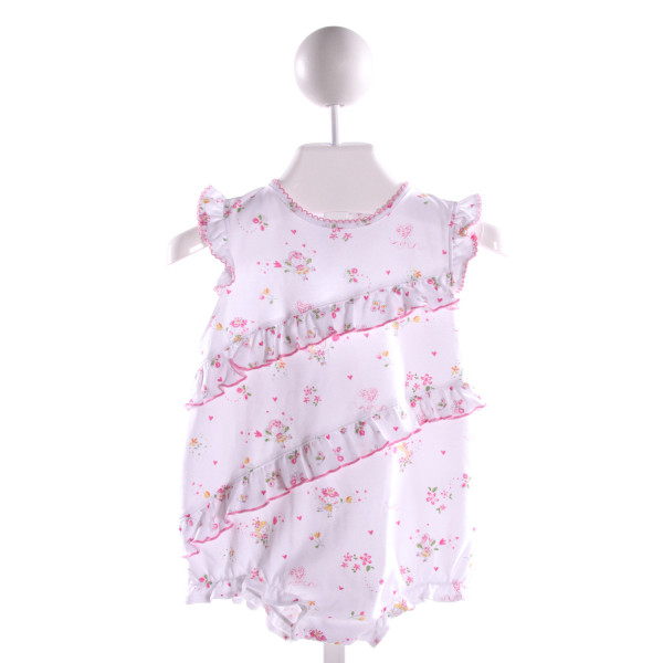 KISSY KISSY  MULTI-COLOR KNIT FLORAL PRINTED DESIGN BUBBLE WITH RUFFLE