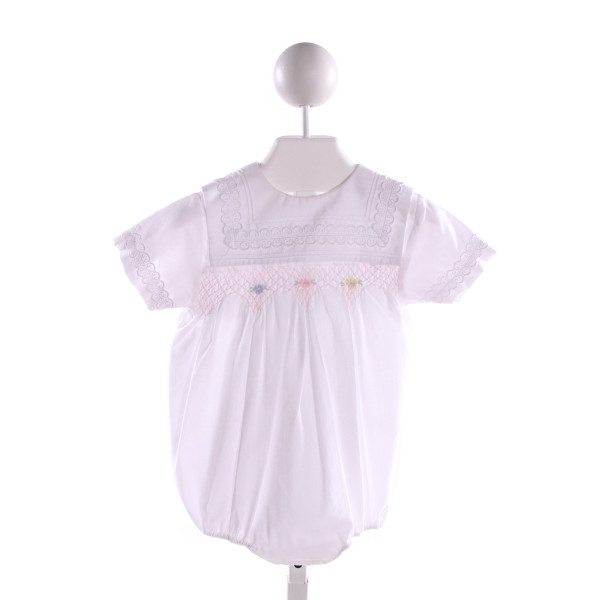 GARDEN OF ANGELS  WHITE COTTON  SMOCKED BUBBLE
