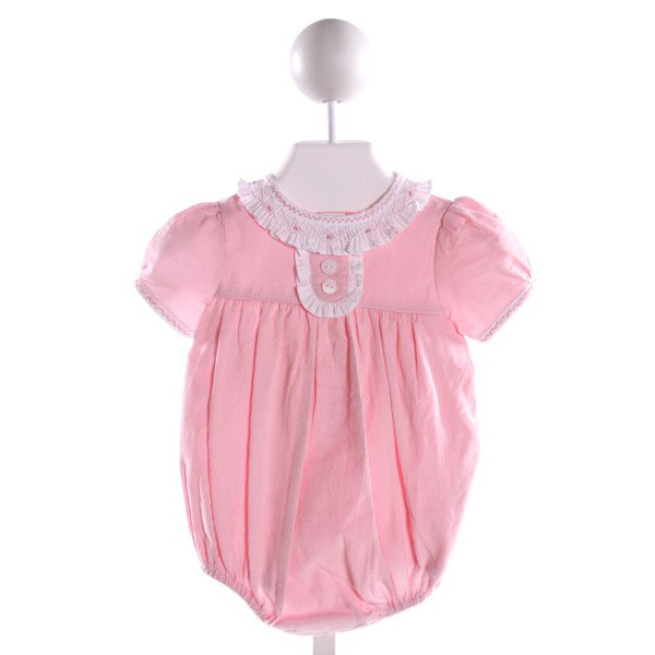 BELLA BLISS  LT PINK CORDUROY  SMOCKED BUBBLE WITH RUFFLE