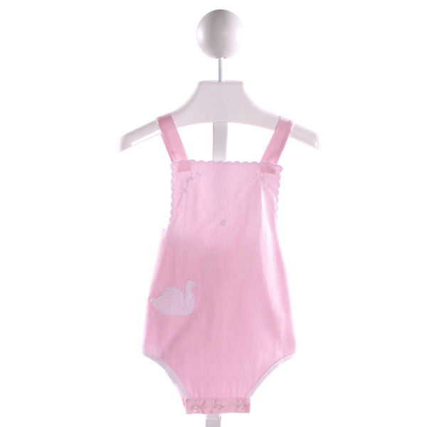 PIXIE LILY  PINK COTTON  EMBROIDERED BUBBLE