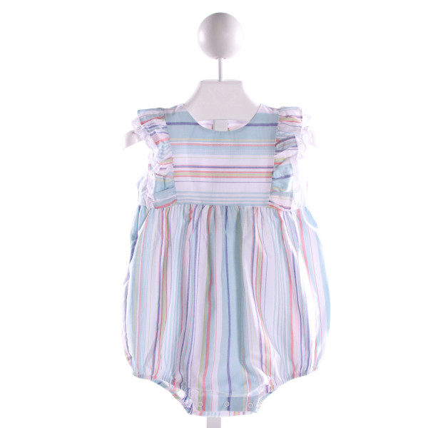 DONDOLO  MULTI-COLOR COTTON STRIPED  BUBBLE WITH EYELET TRIM