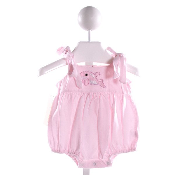 FANTAISIE KIDS  LT PINK KNIT  EMBROIDERED BUBBLE