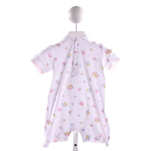 HUG ME FIRST  MULTI-COLOR KNIT  PRINTED DESIGN KNIT ROMPER