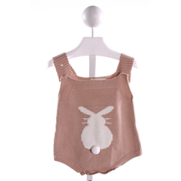 ANGOU BROWN SWEATER KNIT BUBBLE WITH BUNNY