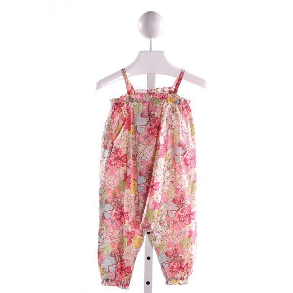 BONPOINT  MULTI-COLOR LIBERTY FLORAL  ROMPER WITH RUFFLE