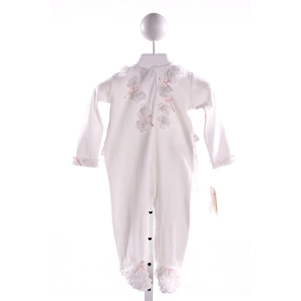 MINICLASIX  IVORY KNIT  APPLIQUED LAYETTE WITH RUFFLE