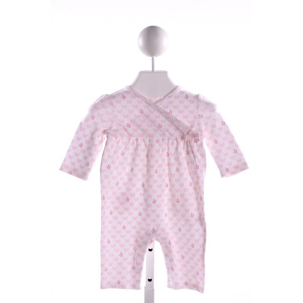 JANIE AND JACK  PINK KNIT  PRINTED DESIGN LAYETTE WITH PICOT STITCHING