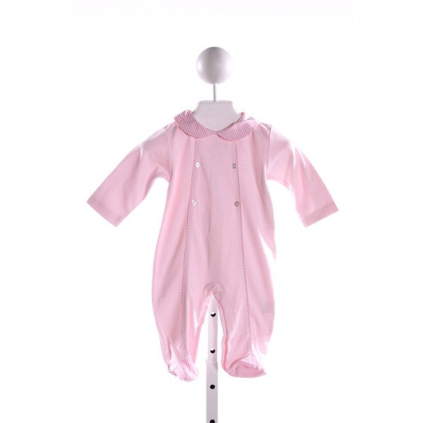 HUG ME FIRST  LT PINK KNIT WINDOWPANE  LAYETTE