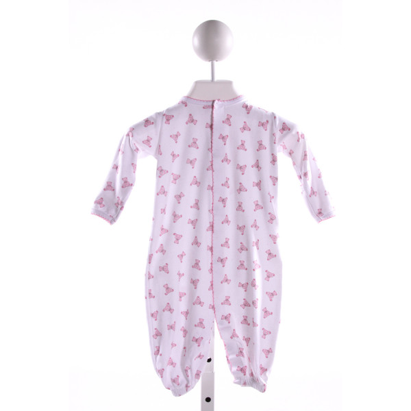 MAGNOLIA BABY  MULTI-COLOR KNIT POLKA DOT PRINTED DESIGN LAYETTE WITH PICOT STITCHING