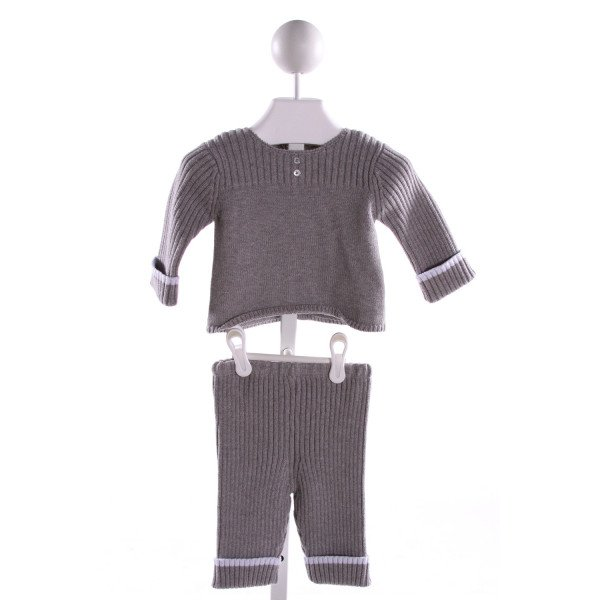 JACADI  GRAY  STRIPED  2-PIECE OUTFIT